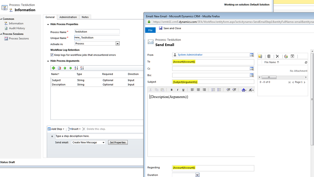 Invoke your Custom Action from Dynamics CRM Web API–Dynamics CRM