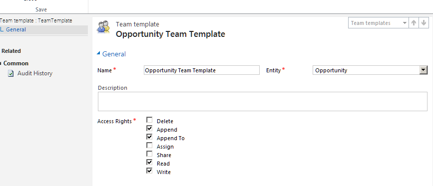 crm template access
