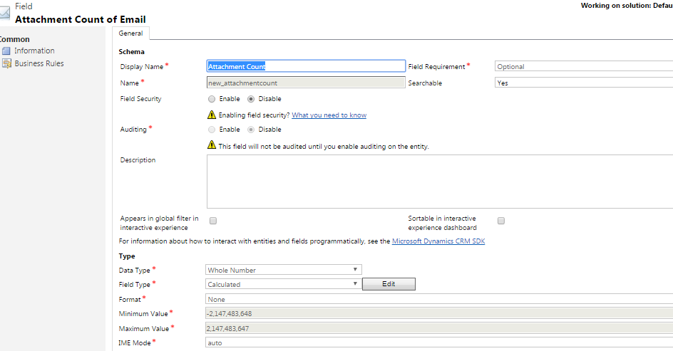 Knowhow} Get count of Attachments for Email in Dynamics CRM without
