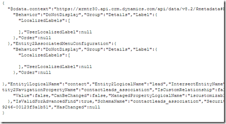 Dynamics CRM/ 365 + Web API} New Metadata Query features in Web API