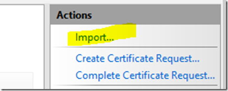 Quick Tip} Certificate disappearing in IIS of CRM server