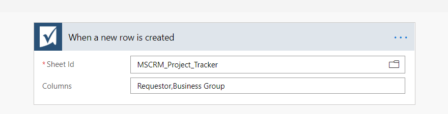 Dynamics 365 integration with SmartSheet using Flows–What's